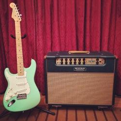 My surf-green 2012 Strat and Mesa Boogie Stiletto amp